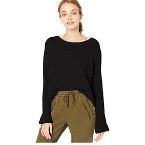 ROXY Sorrento Shades Black Bell Sleeve Sweater